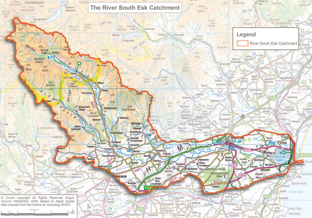 Maps The River South Esk